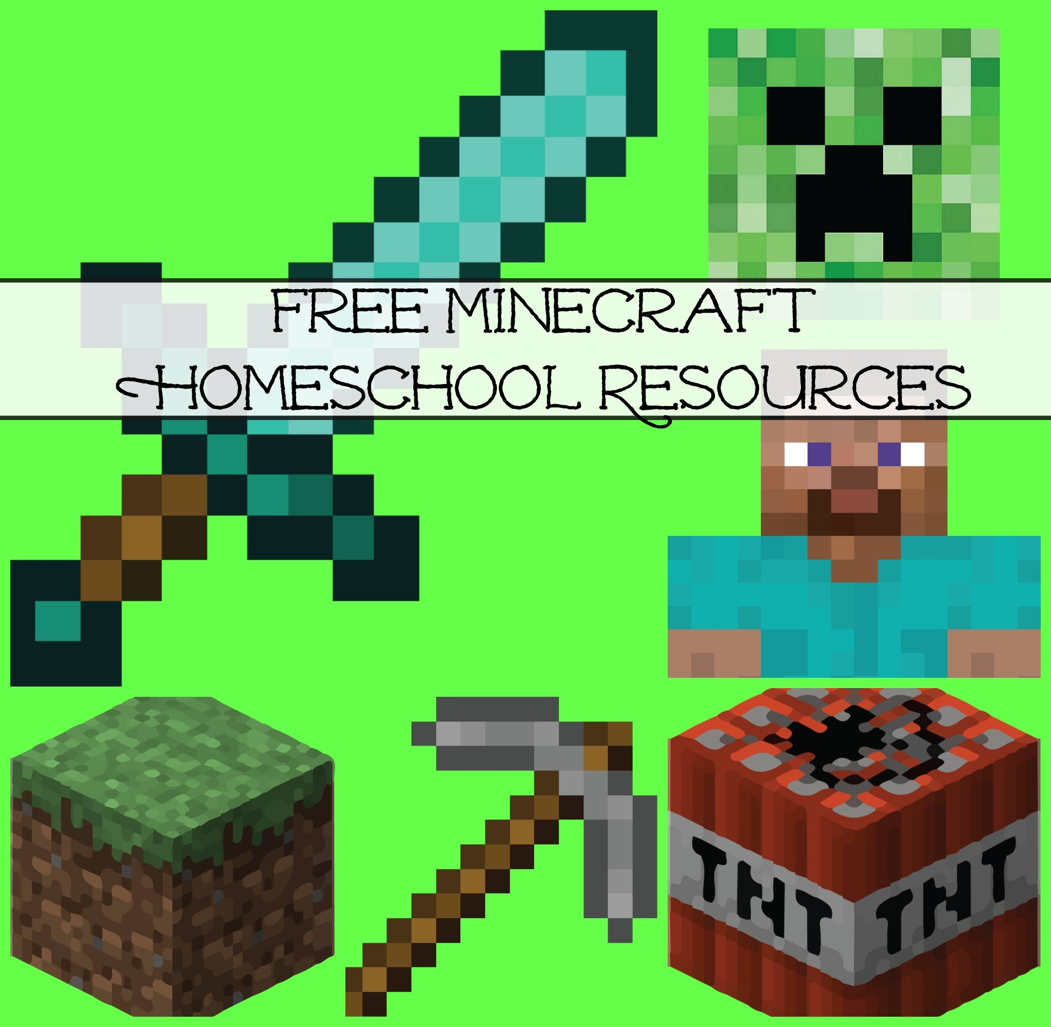 Free Minecraft Homeschool Resources: Printables, Crafts, Snacks - Free Printable Minecraft Activity Pages