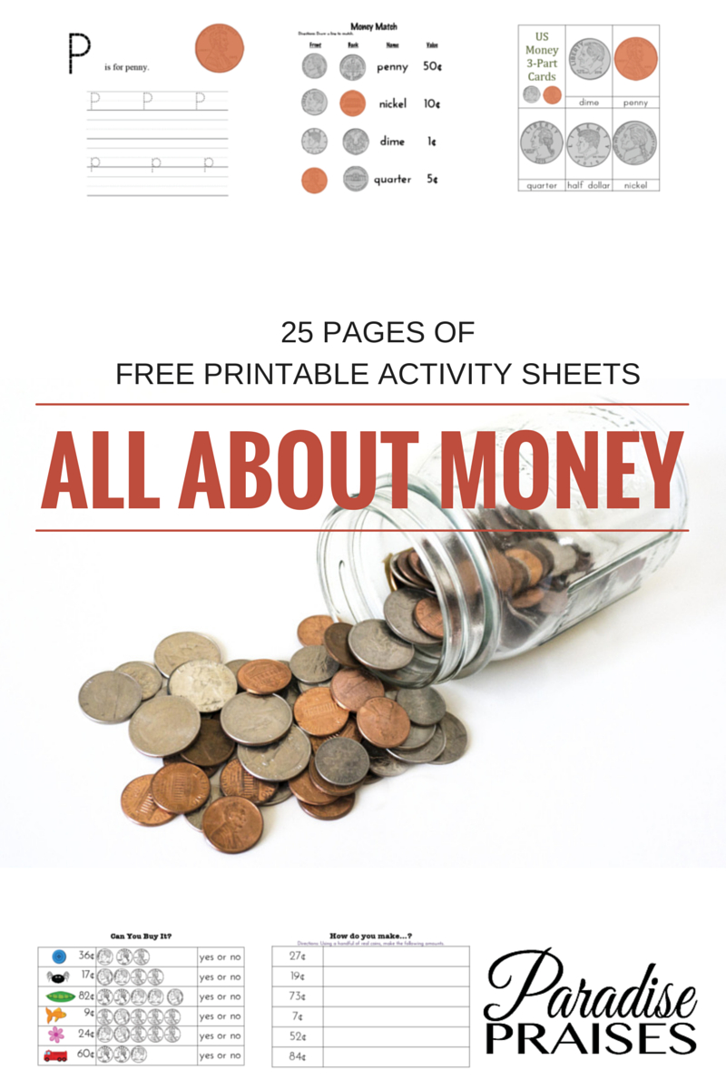 Free Money Printables | Paradise Praises Blog | Money Worksheets - Homeschooling Paradise Free Printable Math Worksheets Third Grade