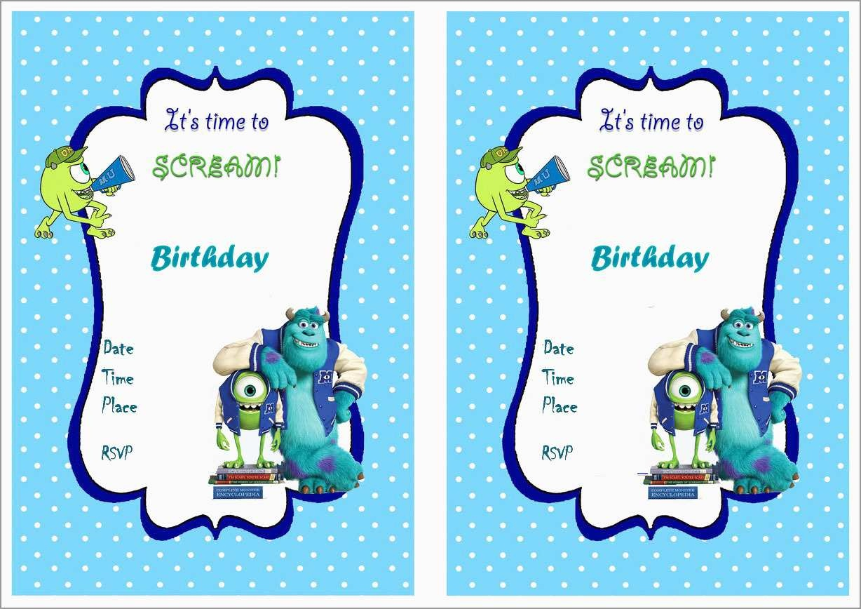 Free Monster Invitation Template New Little Monster Invitation - Free Printable Monsters Inc Birthday Invitations