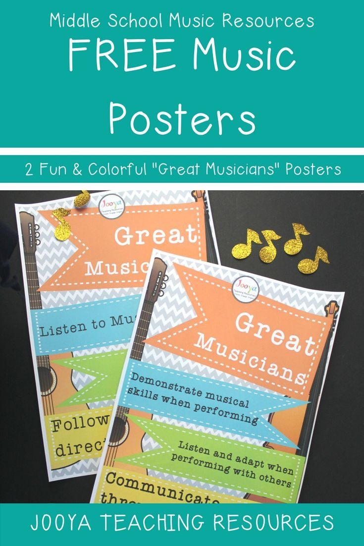 Free Music Display Posters | Music Bulletin Board Inspiration - Free Printable Music Posters