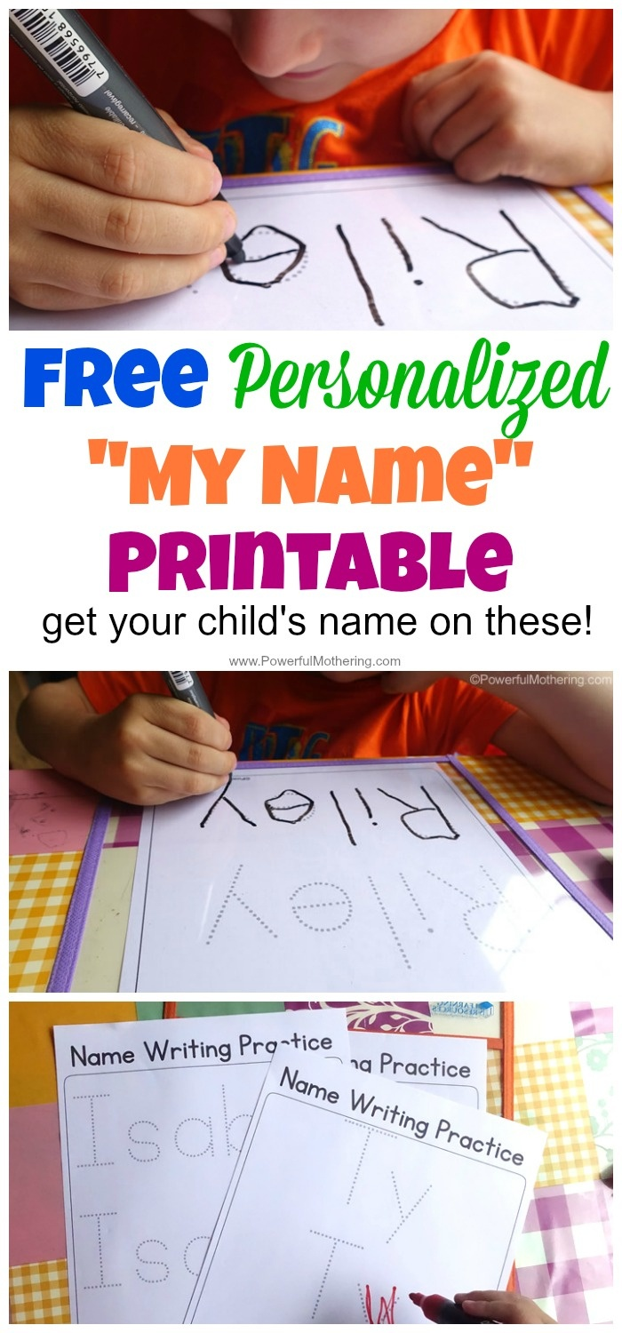 Free Name Tracing Worksheet Printable + Font Choices - Free Printable Personalized Children's Books
