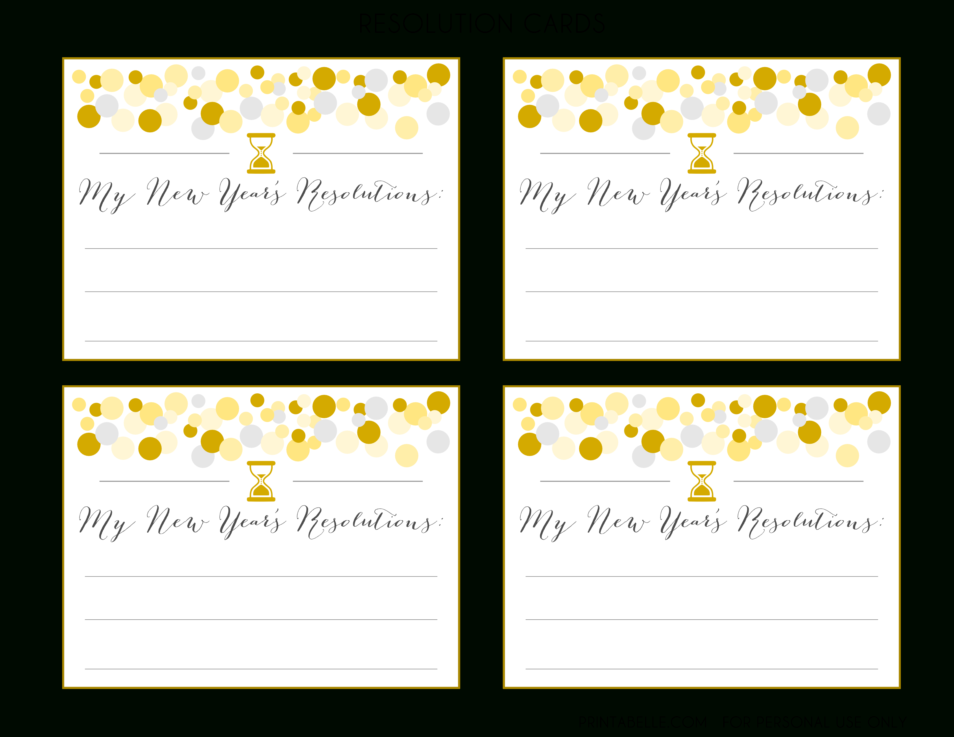 Free New Year's Party Printables | Catch My Party - Free Printable Happy New Year Cards