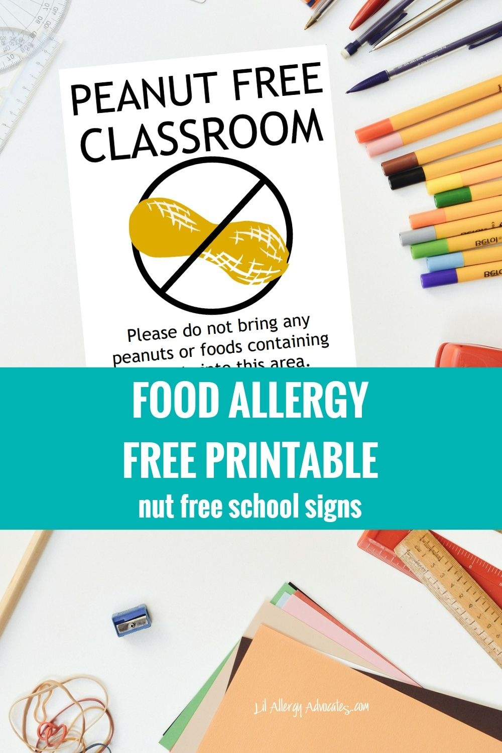 Free Nut Free Classroom And Nut Free School Signs. Free Printable - Printable Peanut Free Classroom Signs