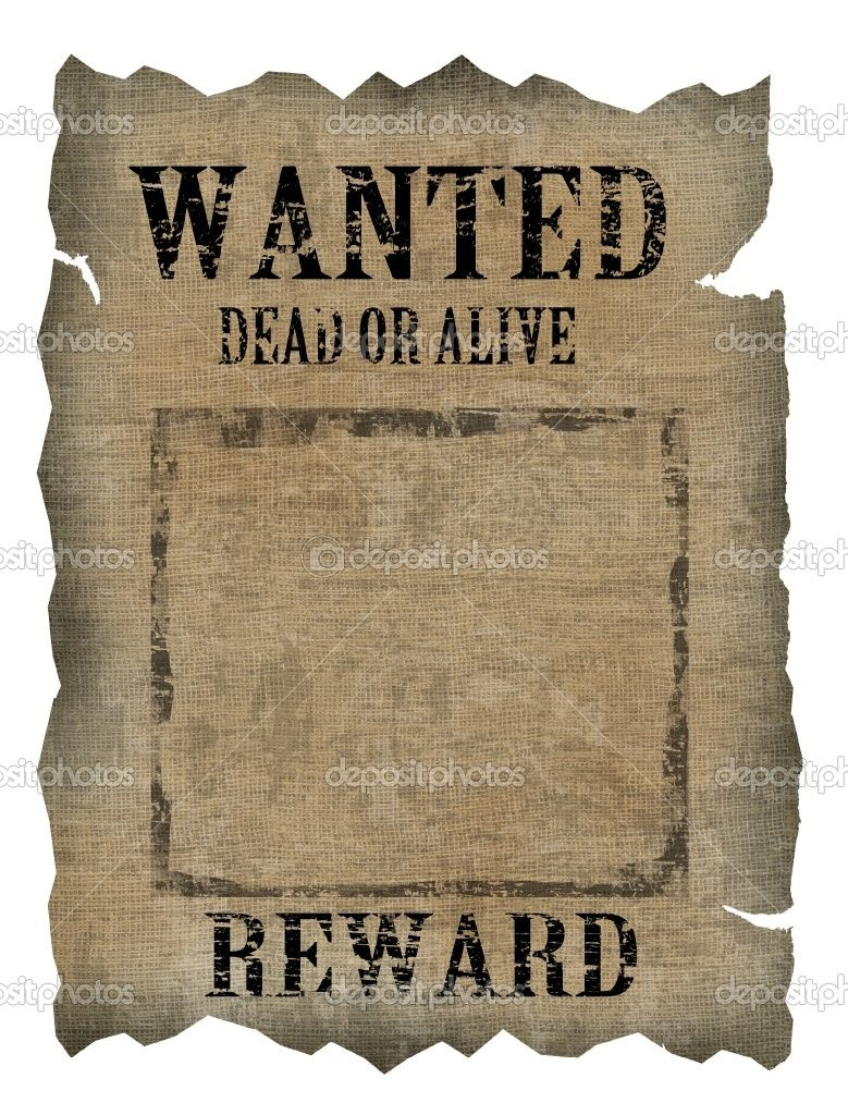 Free Old Western Wanted Posters | Vintage Wanted Poster | Stock - Free Printable Wanted Poster Old West