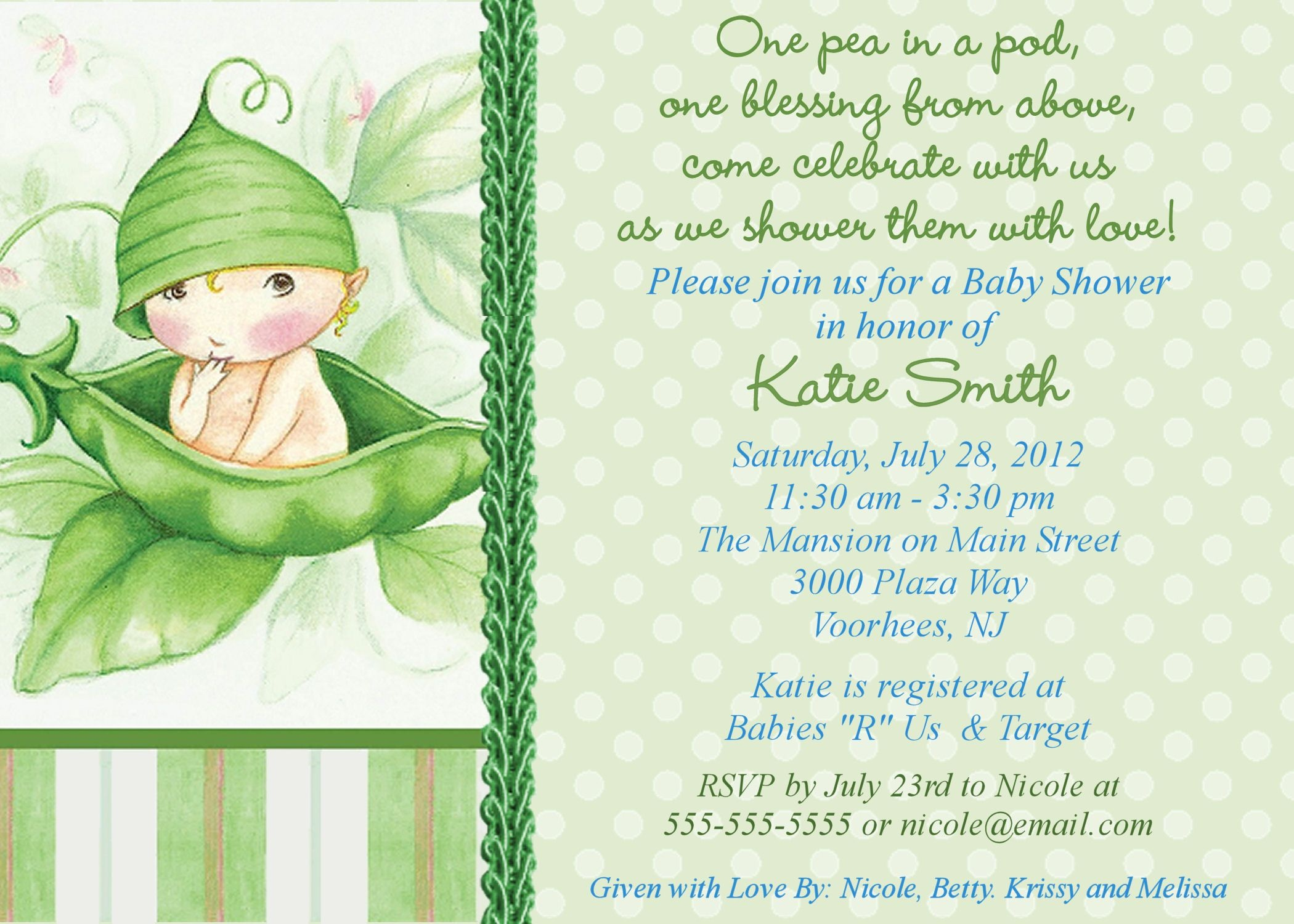 Free Online Baby Shower Invitations | Baby Shower Invitation Sample - Free Baby Shower Invitation Maker Online Printable