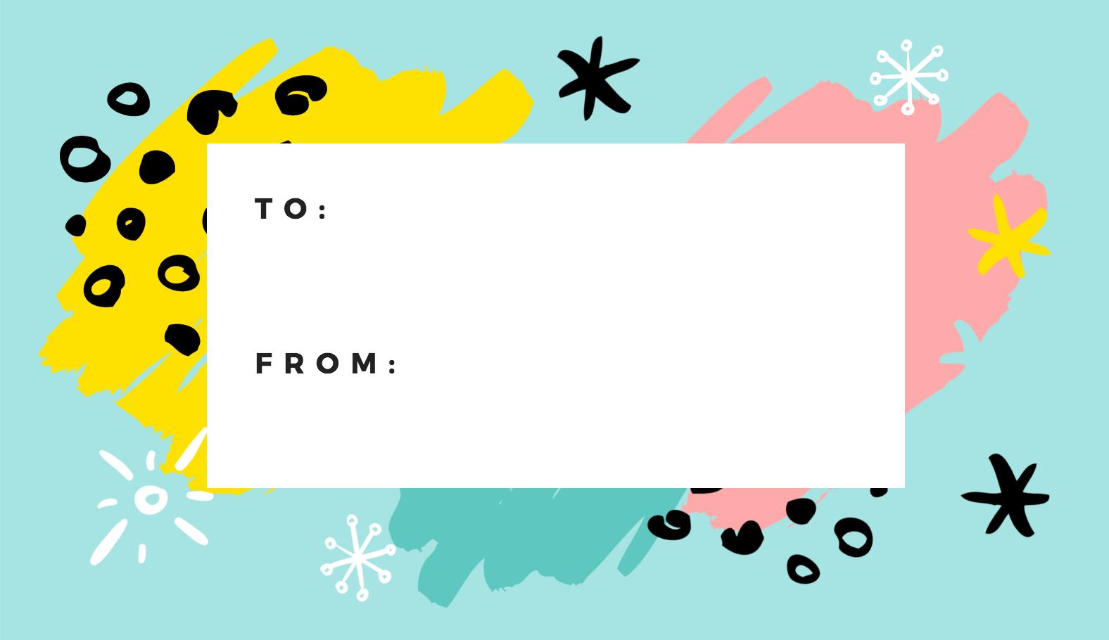 Free Online Gift Tags Maker: Design A Custom Gift Tag - Canva - Free Online Gift Tags Printable