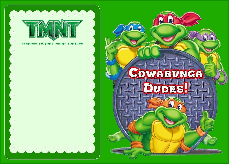 Free Online Ninja Turtle Invitation   Tkb Printables   Ninja Turtle - Free Printable Tmnt Birthday Party Invitations