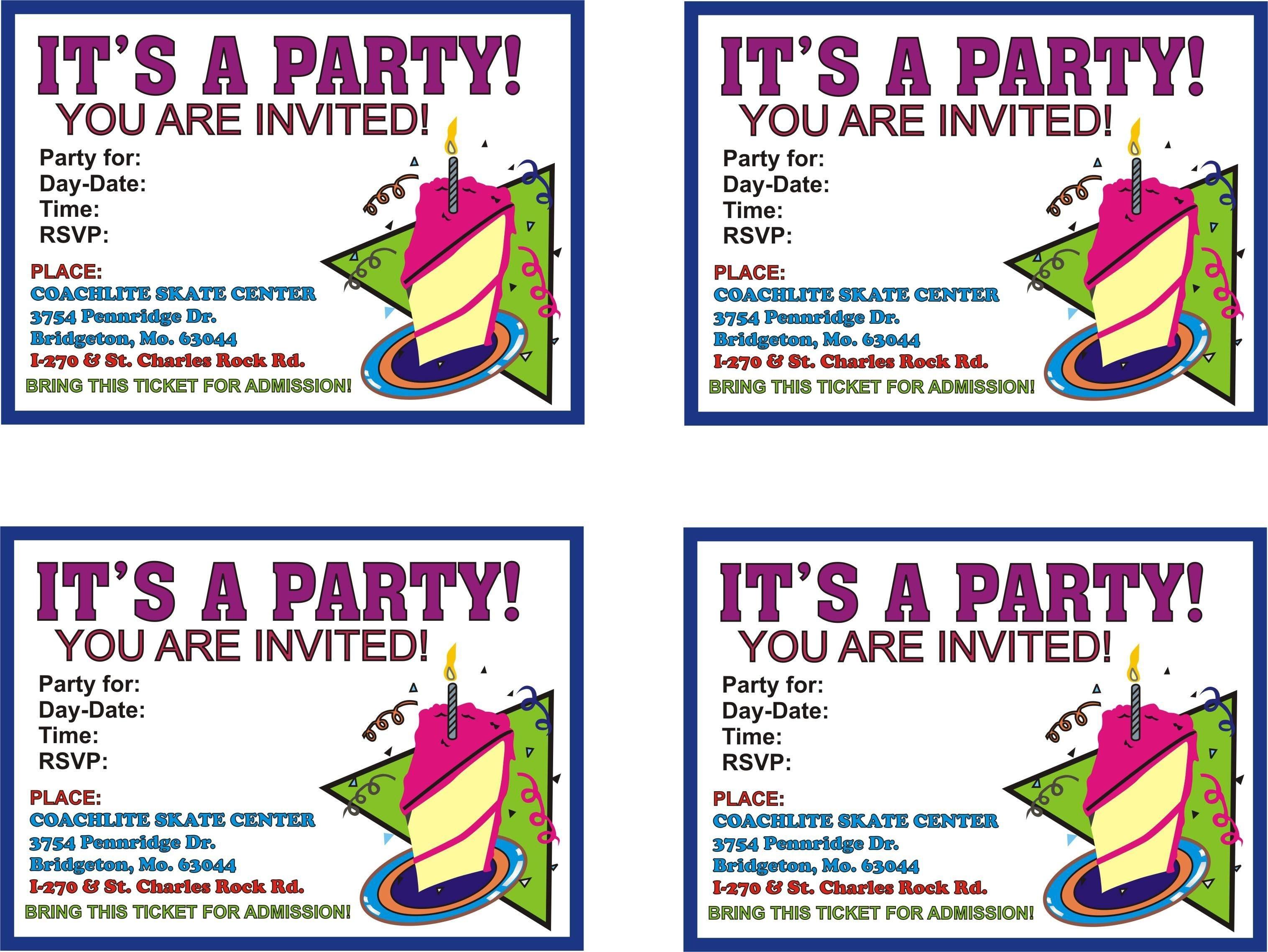 Free Online Printable Birthday Party Invitations | Lazine - 13Th Birthday Party Invitations Printable Free