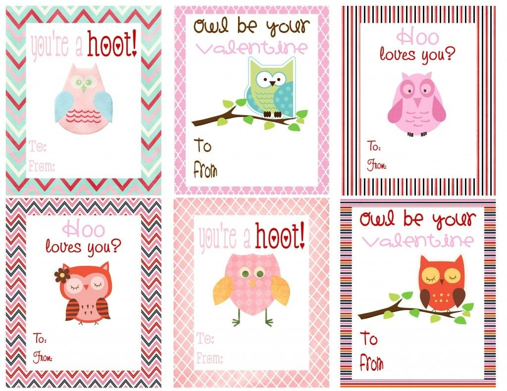 Free Owl Printables | Free Printable Valentine's Day Cards For Kids - Free Printable Valentines Day Cards Kids