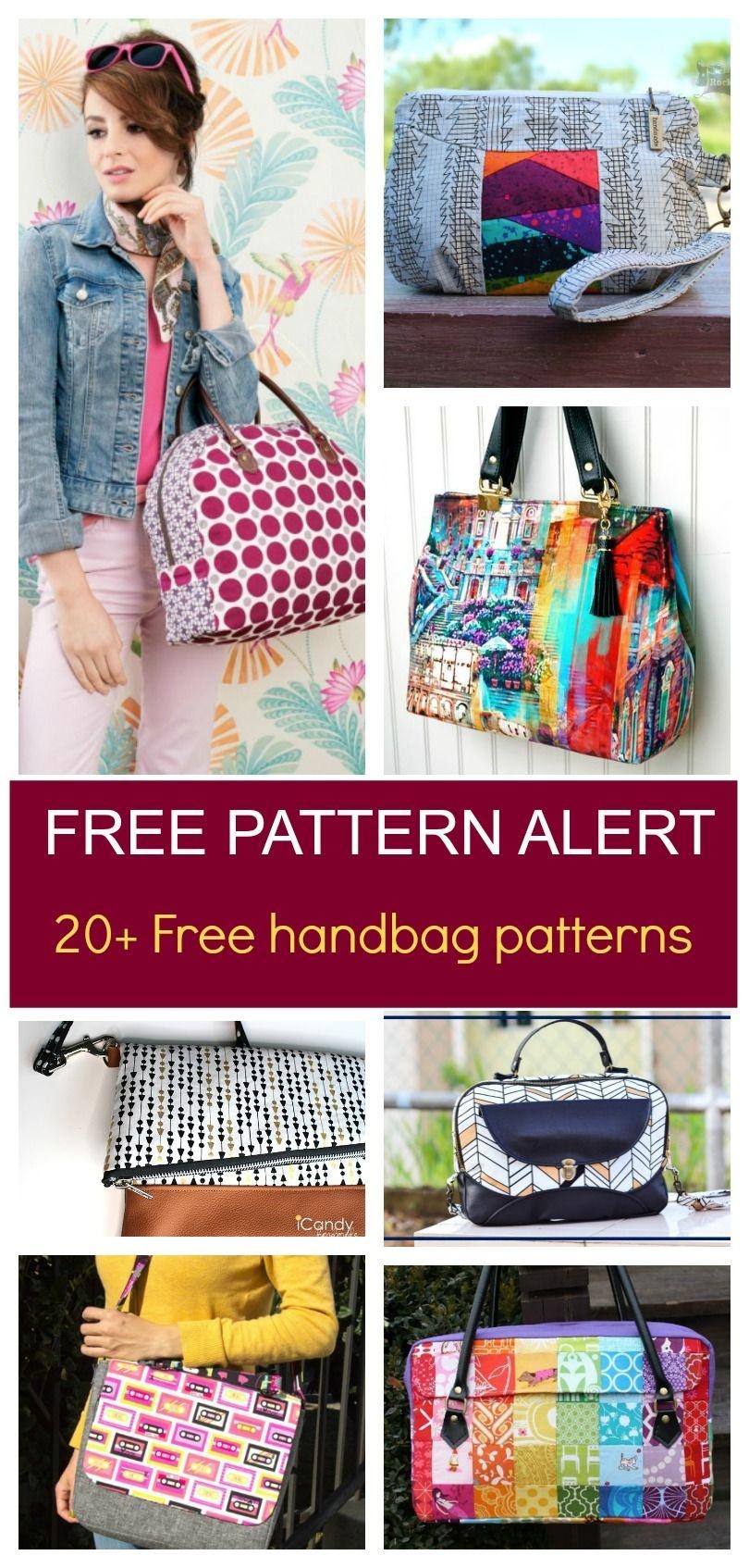 Free Pattern Alert: 20+ Handbag Sewing Patterns   Diy Sewing - Free Printable Purse Patterns To Sew