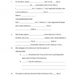 Free Pennsylvania Guardian Of Minor Power Of Attorney Form   Word   Free Printable Child Guardianship Forms