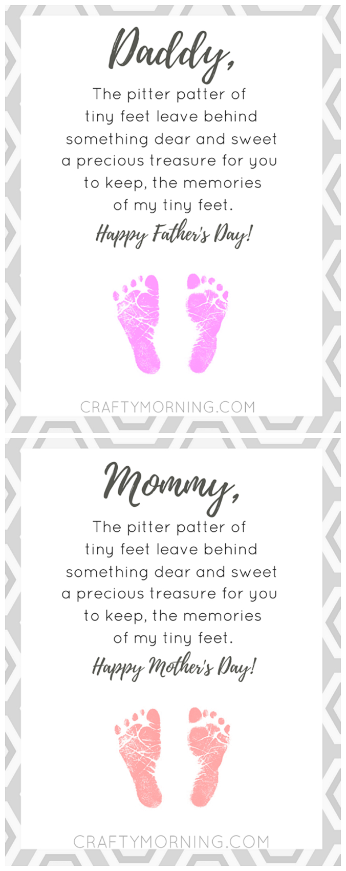 Free Pitter Patter Of Tiny Feet Poem Printable For Mom Or Dad - Free Printable Fathers Day Poems For Preschoolers