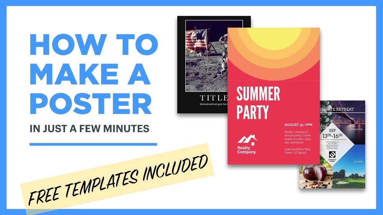 Free Poster Maker - Design Posters Online [18 Free Templates] - Free Printable Poster Maker