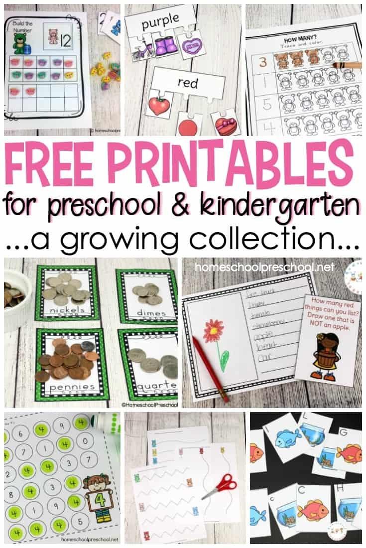 Free Preschool Printables For Your Homeschool Preschool - Free Printable Preschool Worksheets