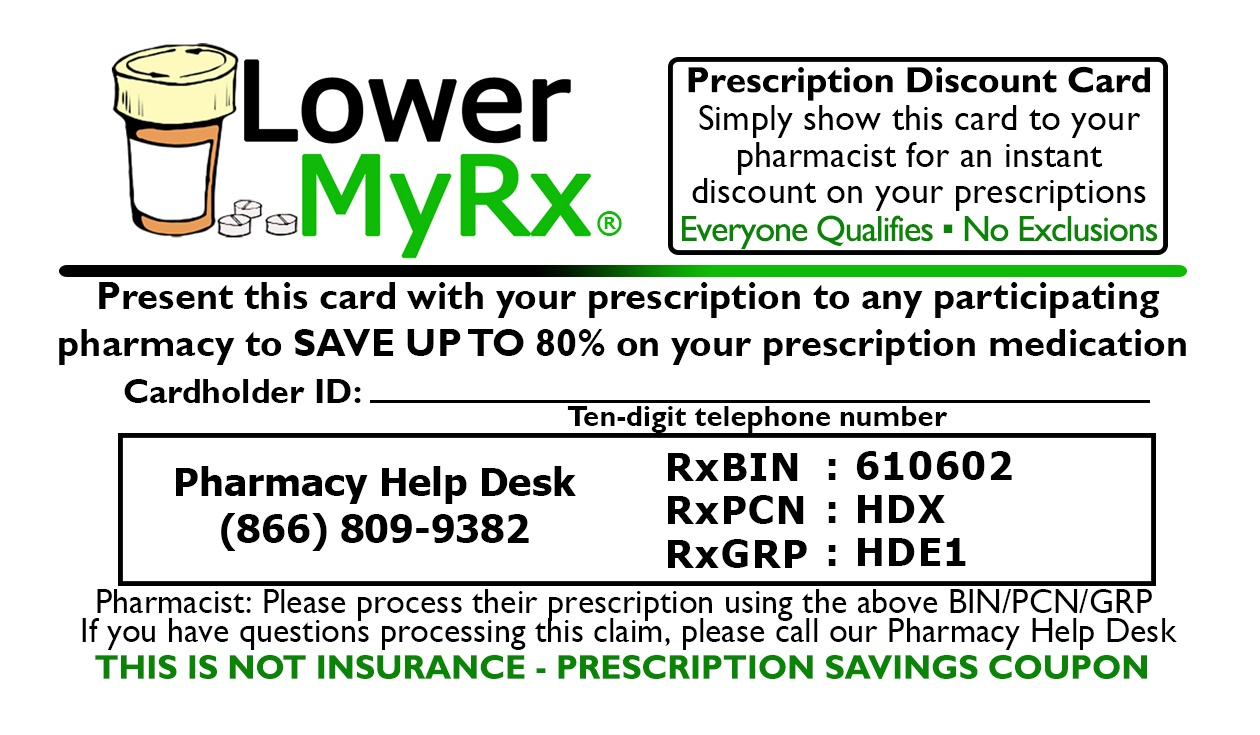 Free Prescription Discount Savings Card. Instant Digital And - Free Printable Prescription Coupons