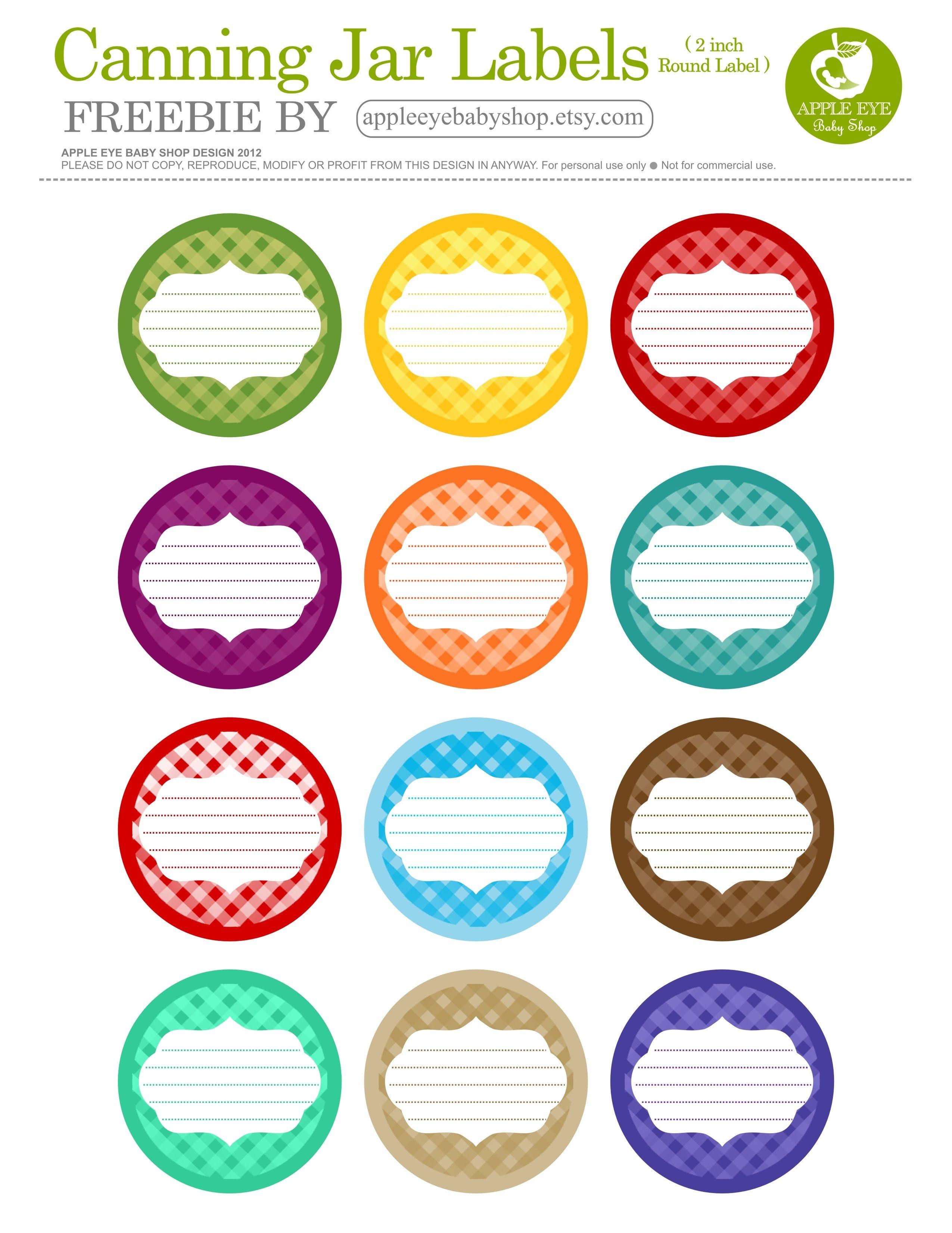 Free Printable| 12 Canning Jar Labels} Freebie@apple Ratana - Free Printable Labels For Jars