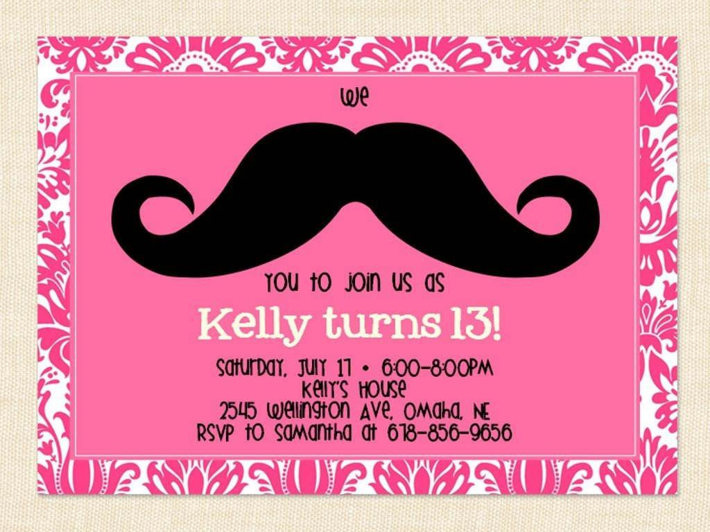 Free Printable 13Th Birthday Party Invitations For Girls. Oh Yes - 13Th Birthday Party Invitations Printable Free