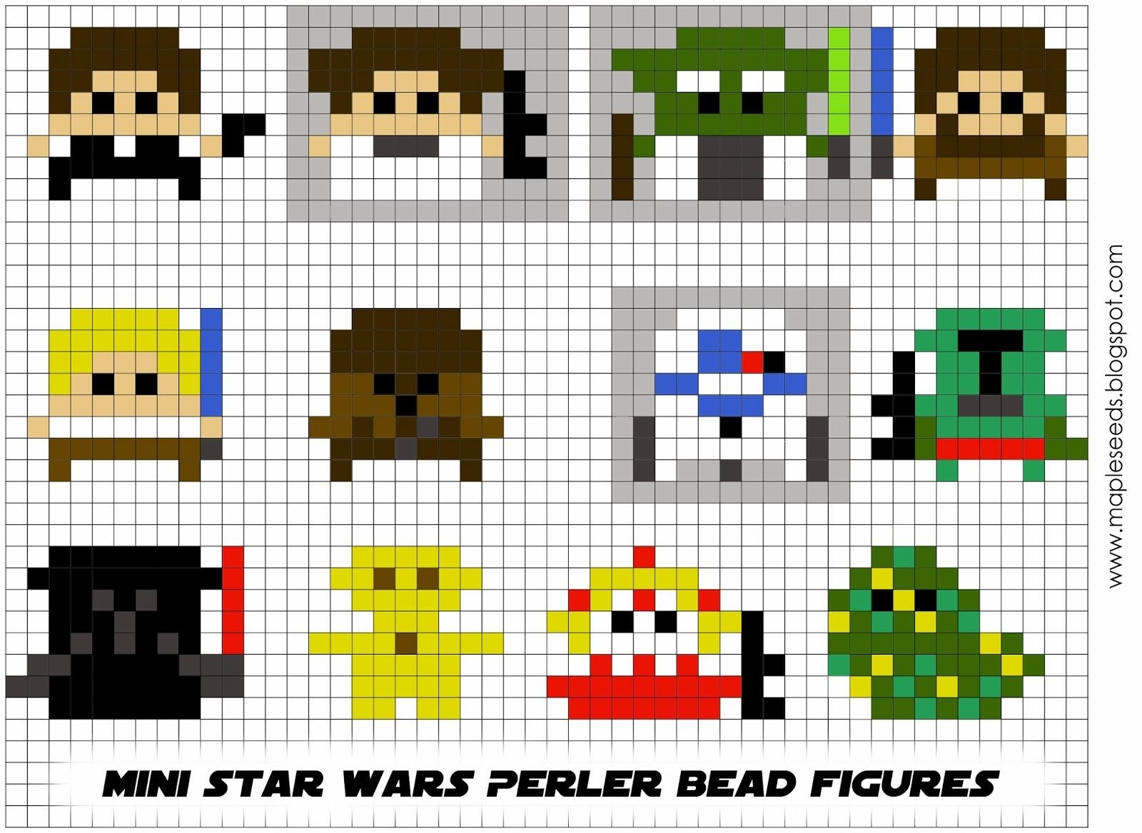 Free Printable 3-D Perler Bead Patterns | Don't Forget To Download - Pony Bead Patterns Free Printable