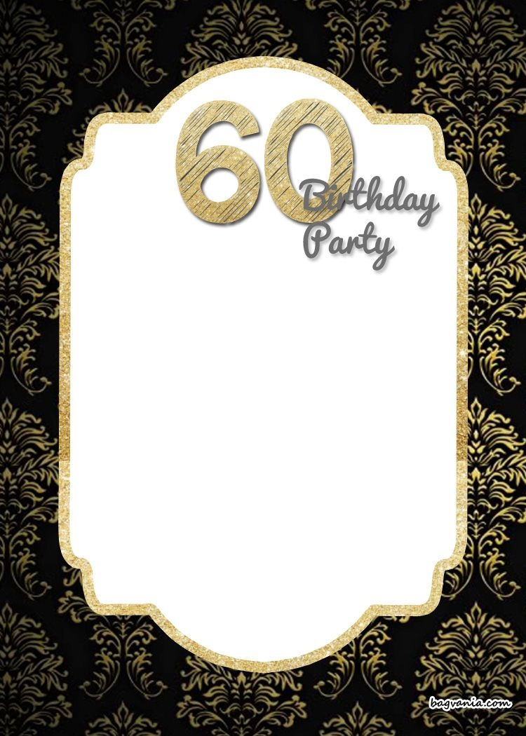 Free Printable 60Th Birthday Invitation | Free Printable Birthday - Free Printable 70Th Birthday Party Invitations