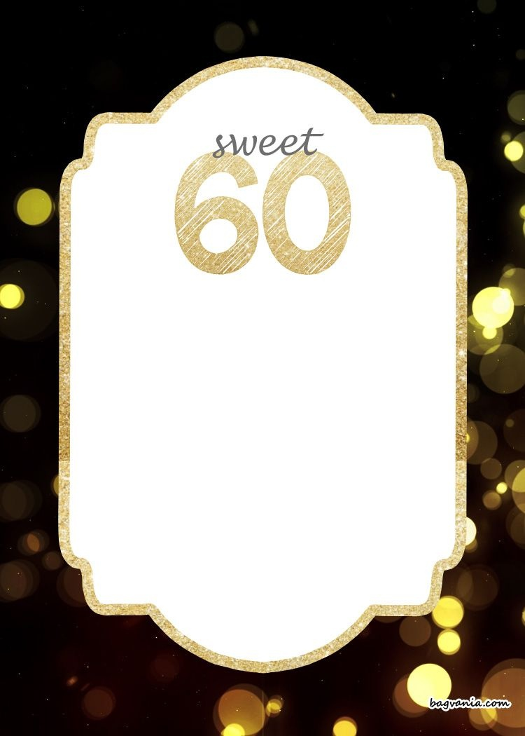 Free Printable 60Th Birthday Invitation | Free Printable Birthday - Free Printable Surprise 60Th Birthday Invitations