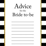 Free Printable Advice For The Bride To Be Cards | Bridal Shower   Free Bridal Shower Printable Decorations