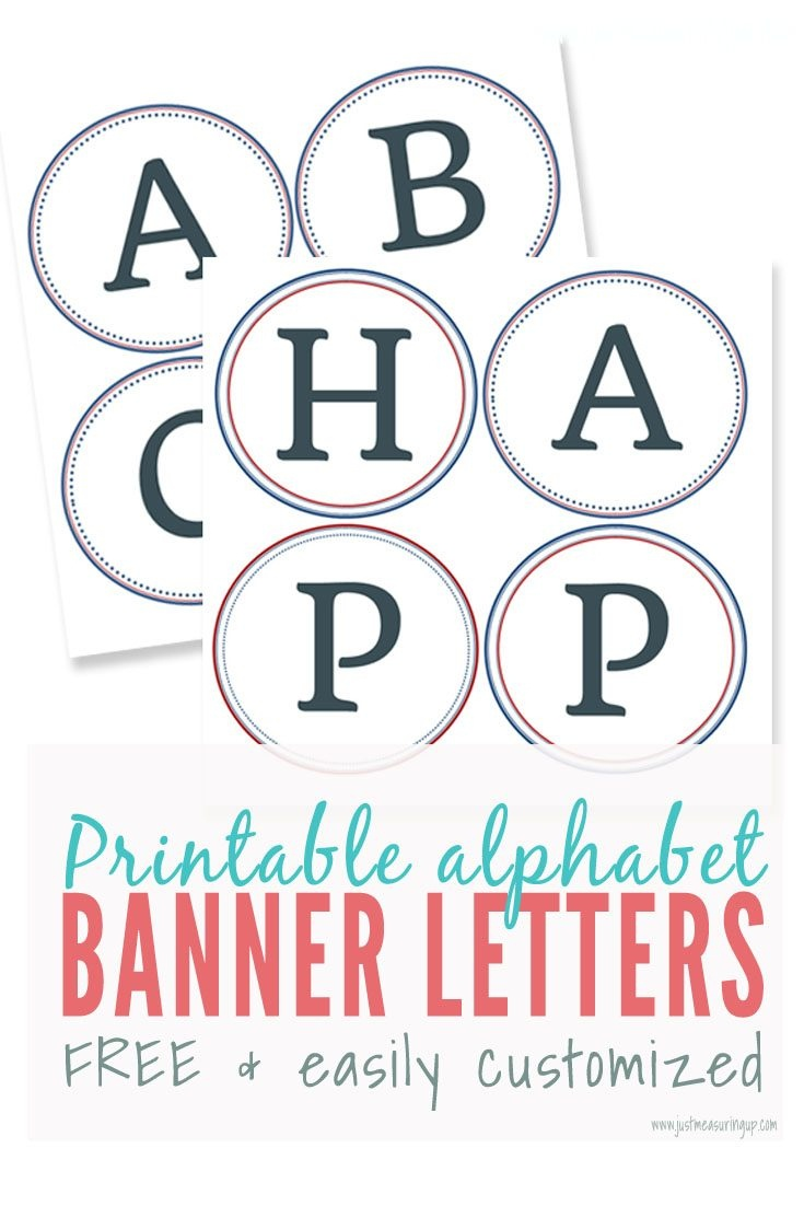 Free Printable Alphabet Letters Banner | Theveliger - Free Printable Alphabet Letters For Banners