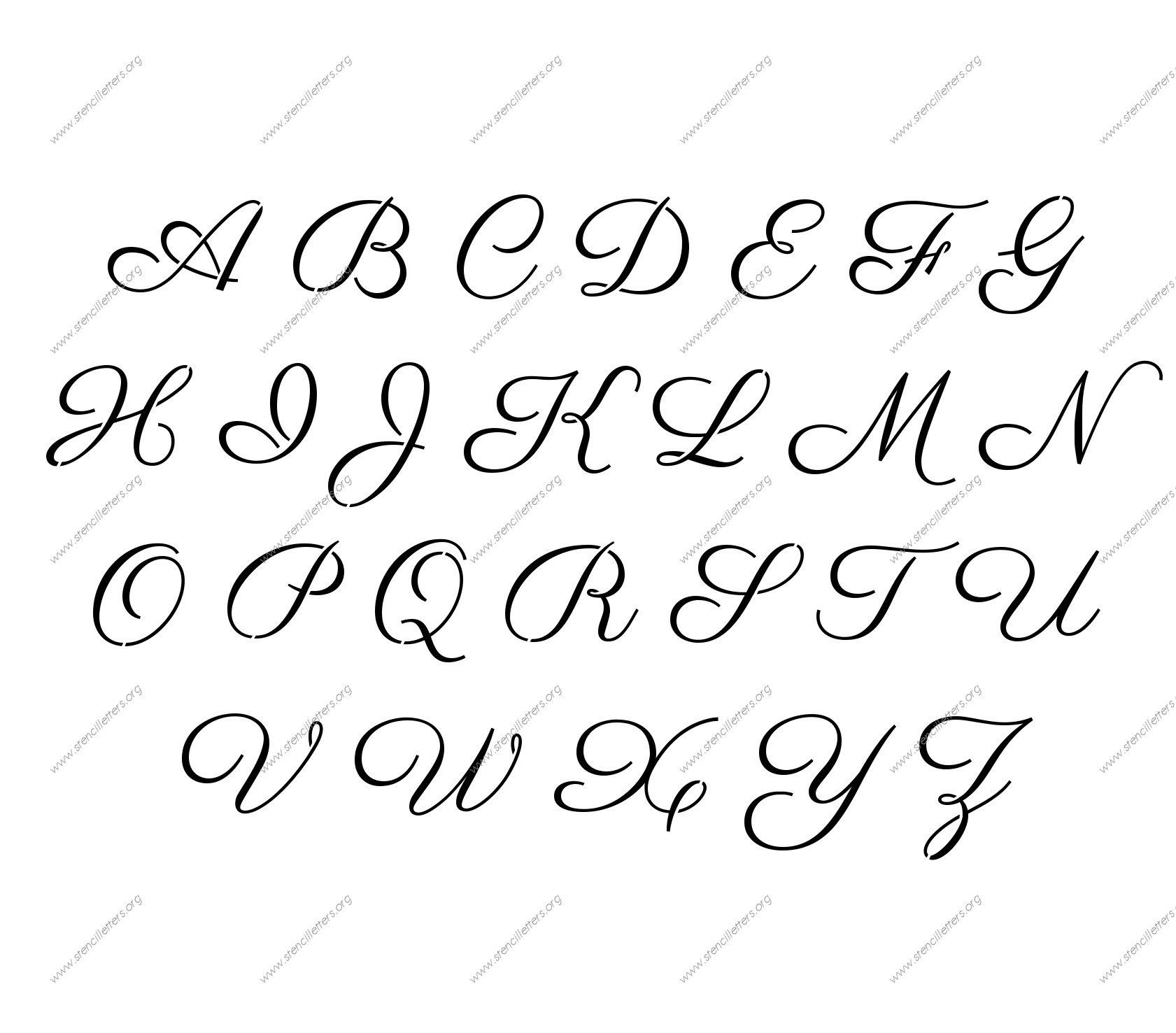 Free Printable Alphabet Stencil Letters Template | Art & Crafts - Free Printable Fonts Stencils