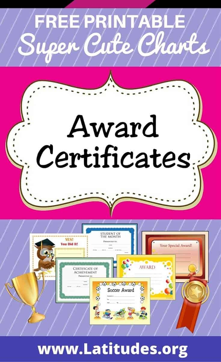 Free Printable Award Certificates For Teachers & Students   Acn - Free Printable Certificates For Teachers