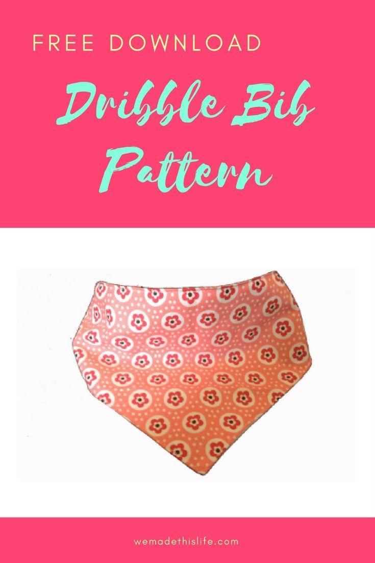 Free Printable Baby Dribble Bib Pattern Pdf   Crafts   Dribble Bibs - Free Printable Baby Bandana Bib Pattern