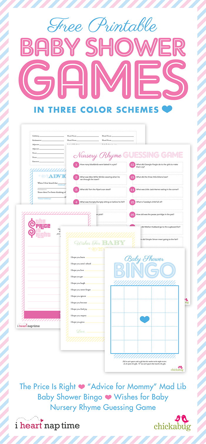 Free Printable Baby Shower Games {With I Heart Nap Time}   Chickabug - Unique Baby Shower Games Free Printable