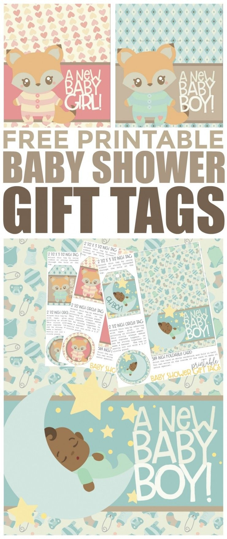 Free Printable Baby Shower Gift Tags | Free Printables | Baby Shower - Free Printable Baby Shower Gift Tags