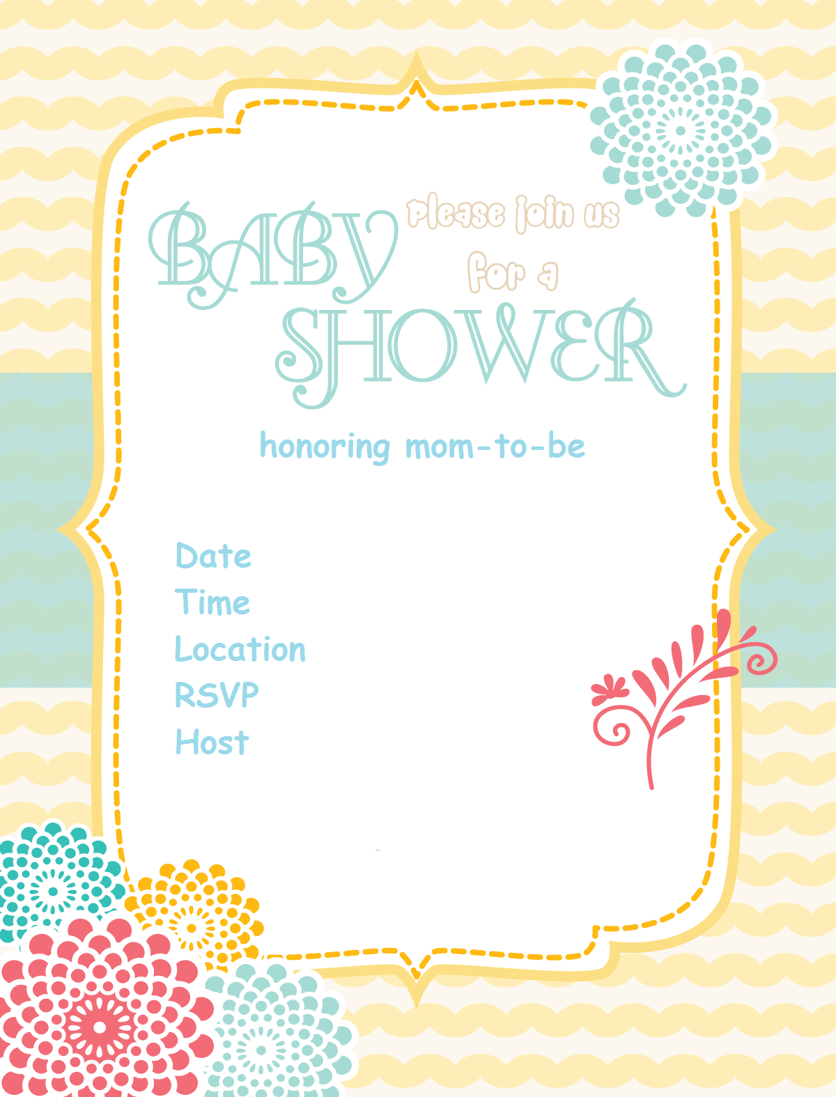 Free Printable Baby Shower Invitations - Baby Shower Ideas - Themes - Free Printable Baby Shower Invitations