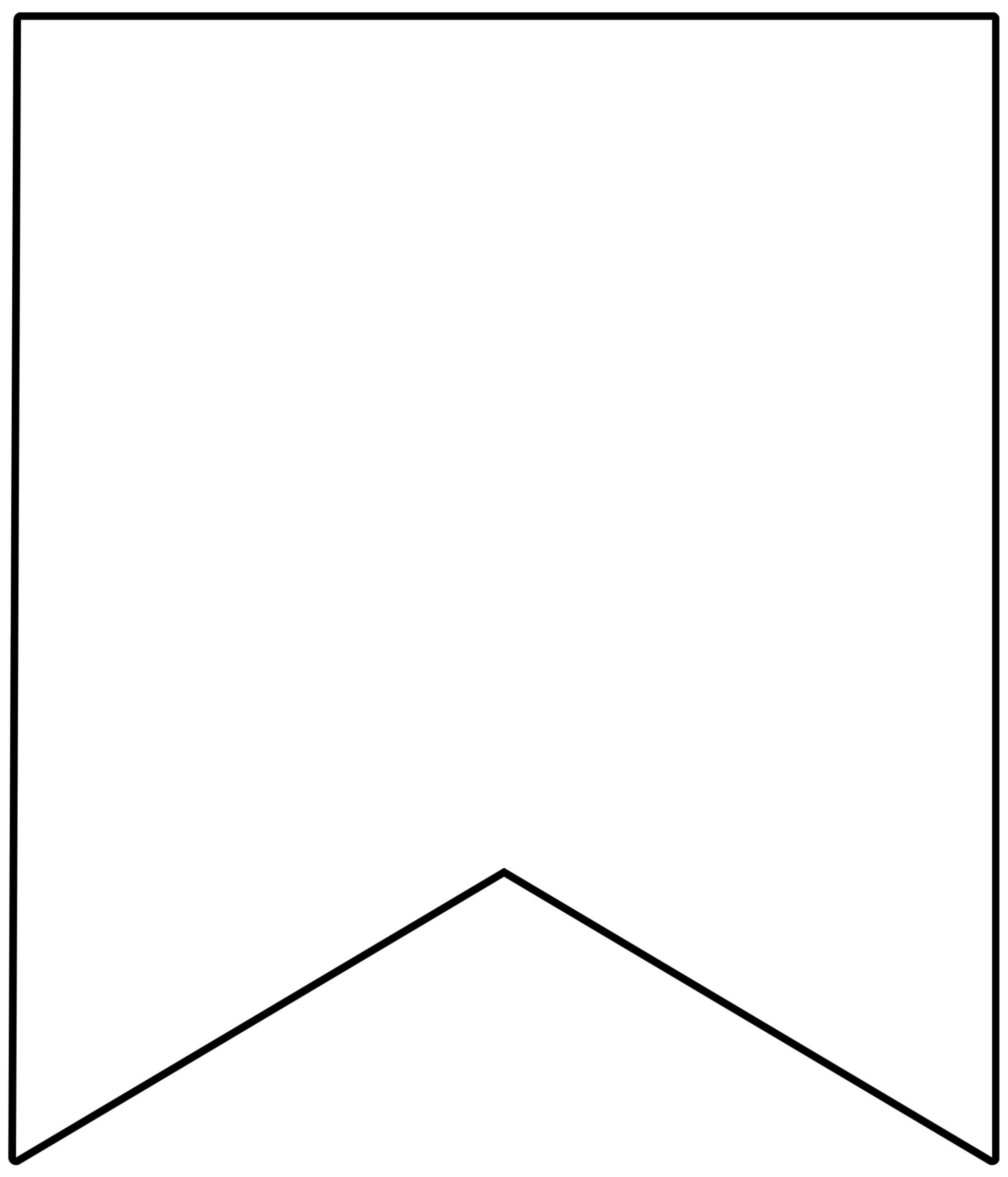 Free Printable Banner Templates {Blank Banners} | Birthday Parties - Free Printable Blank Flag Template