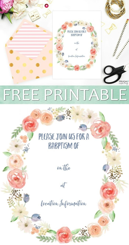Free Printable Baptism Invitation - Free Printable Baptism Invitations