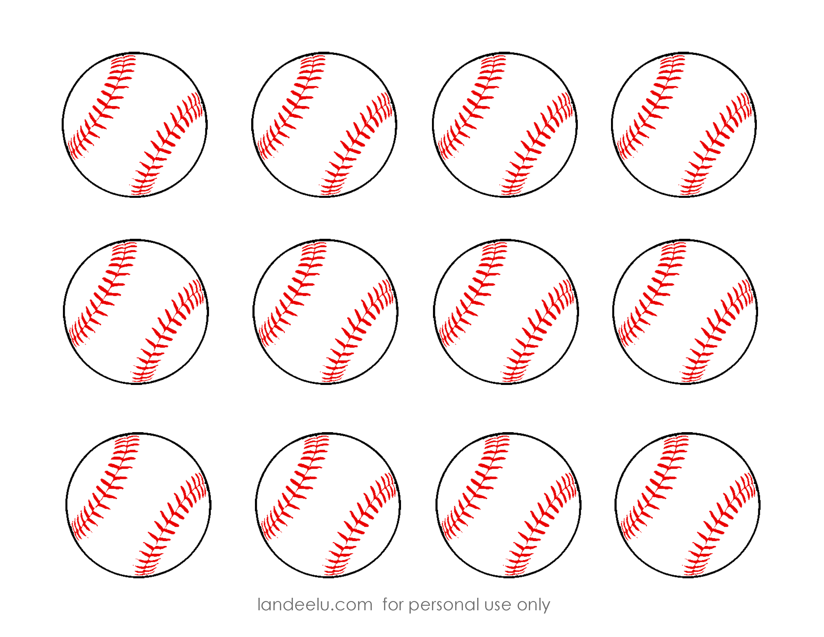 Free Printable Baseball Clip Art Images | Inch Circle Punch Or - Free Printable Softball Pictures