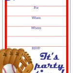 Free Printable Baseball Party Invitation | J's Birthday   Free Printable Sports Birthday Invitation Templates