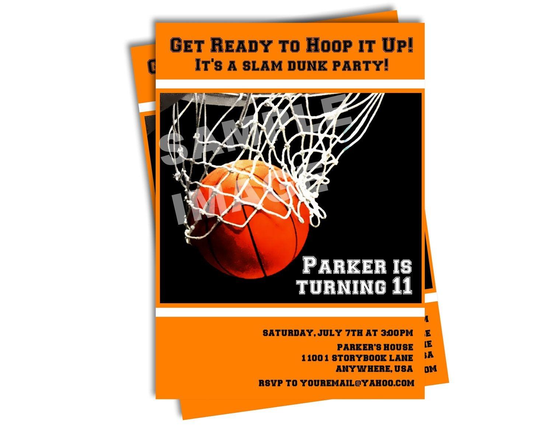 Free Printable Basketball Birthday Invitations | Basketball Birthday - Basketball Invites Free Printable