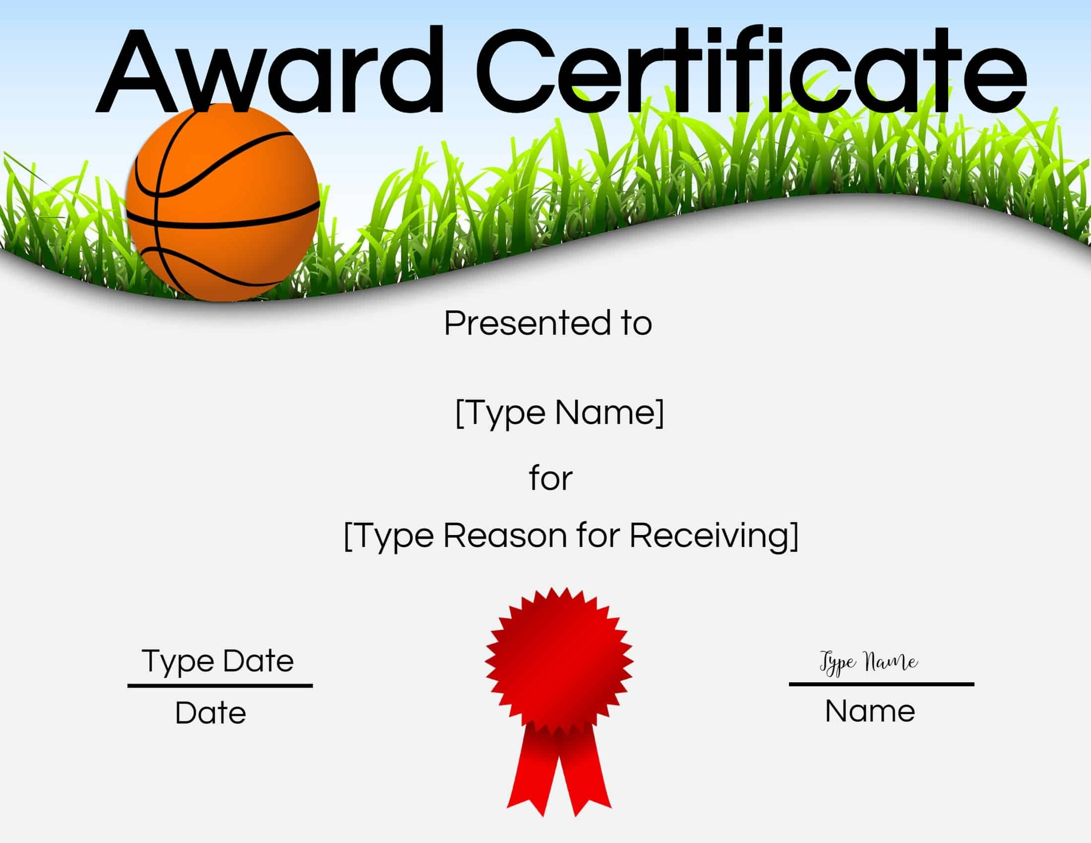 Free Printable Basketball Certificates | Customize Online - Basketball Participation Certificate Free Printable