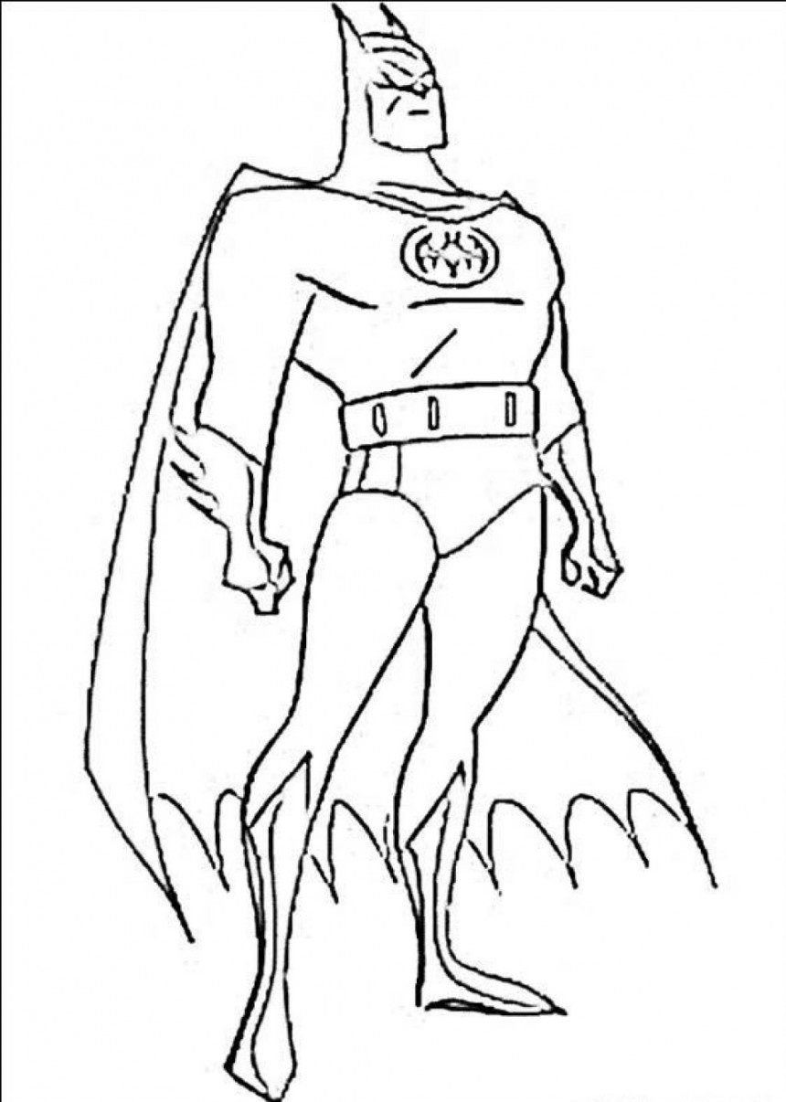 Free Printable Batman Coloring Pages For Kids - Free Printable Batman Coloring Pages
