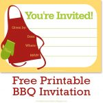 Free Printable Bbq Or Cookout Party Invitations | Free Printable   Free Printable Cookout Invitations