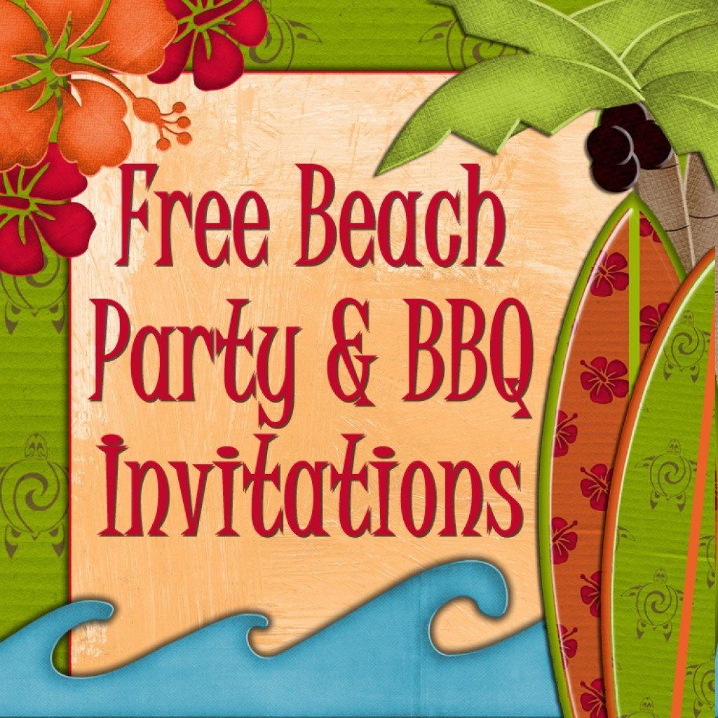Free Printable Beach Party, Luau And Bbq Invitations Templates - Hawaiian Party Invitations Free Printable