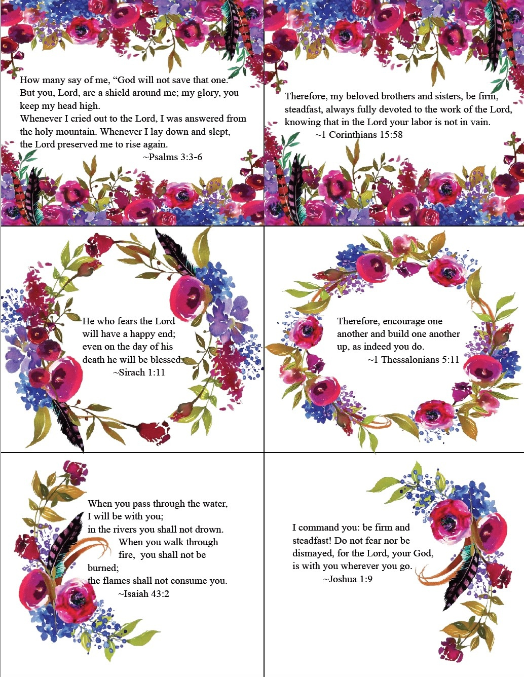 Free Printable Bible Verse Cards For When You Need Encouragement - Free Printable Bible Verse Cards