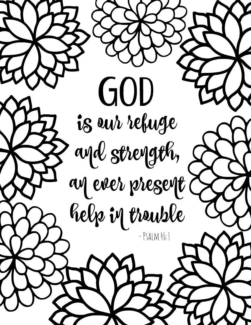 Free Printable Bible Verse Coloring Pages With Bursting Blossoms - Free Printable Bible Verses Adults