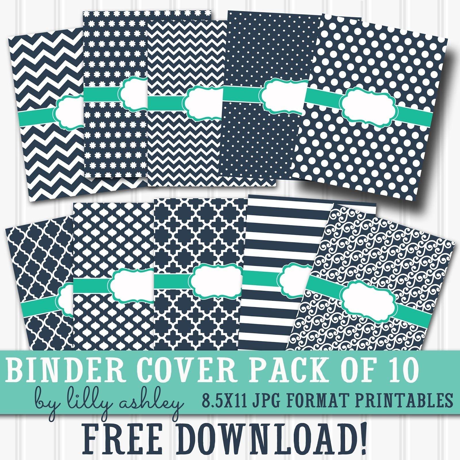 Free Printable Binder Covers Pack Of 10   Diy School Supplies - Free Printable Binder Covers