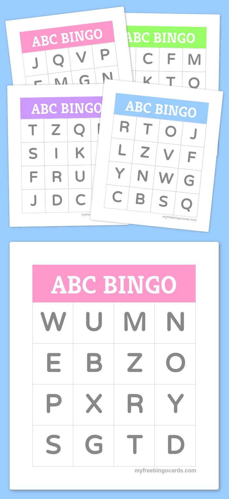 Free Printable Bingo Cards | Bingo Cards | Preschool Learning, Abc - Free Printable Alphabet Bingo Cards