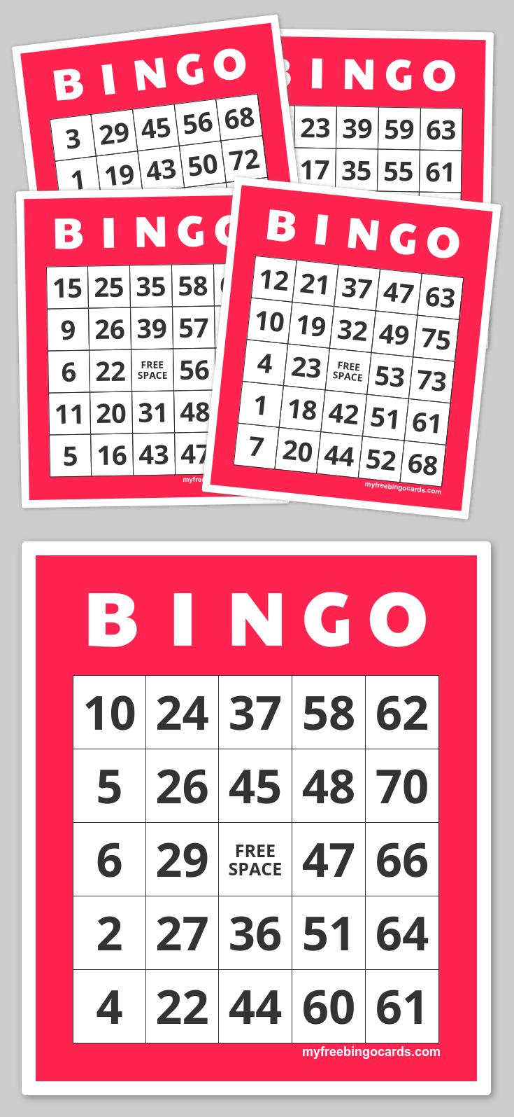 Free Printable Bingo Cards | Family Nights Education | Free - Free Printable Bingo Cards 1 75