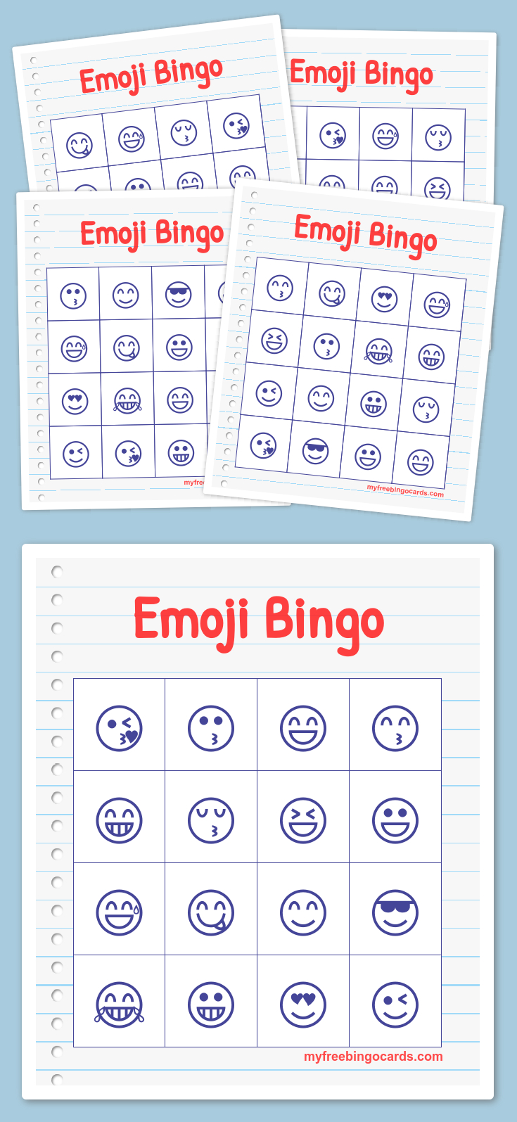 Free Printable Bingo Cards In 2019 | Londons Birthday | Emoji Bingo - Free Printable Bingo Cards Random Numbers