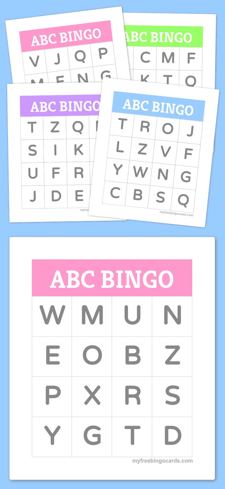 Free Printable Bingo Cards | Letters | Pinterest | Preschool - Free Printable Spanish Bingo Cards