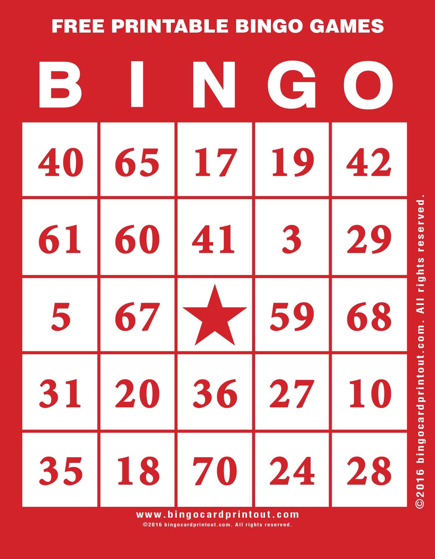 Free Printable Bingo Games - Bingocardprintout - Free Printable Bingo Games