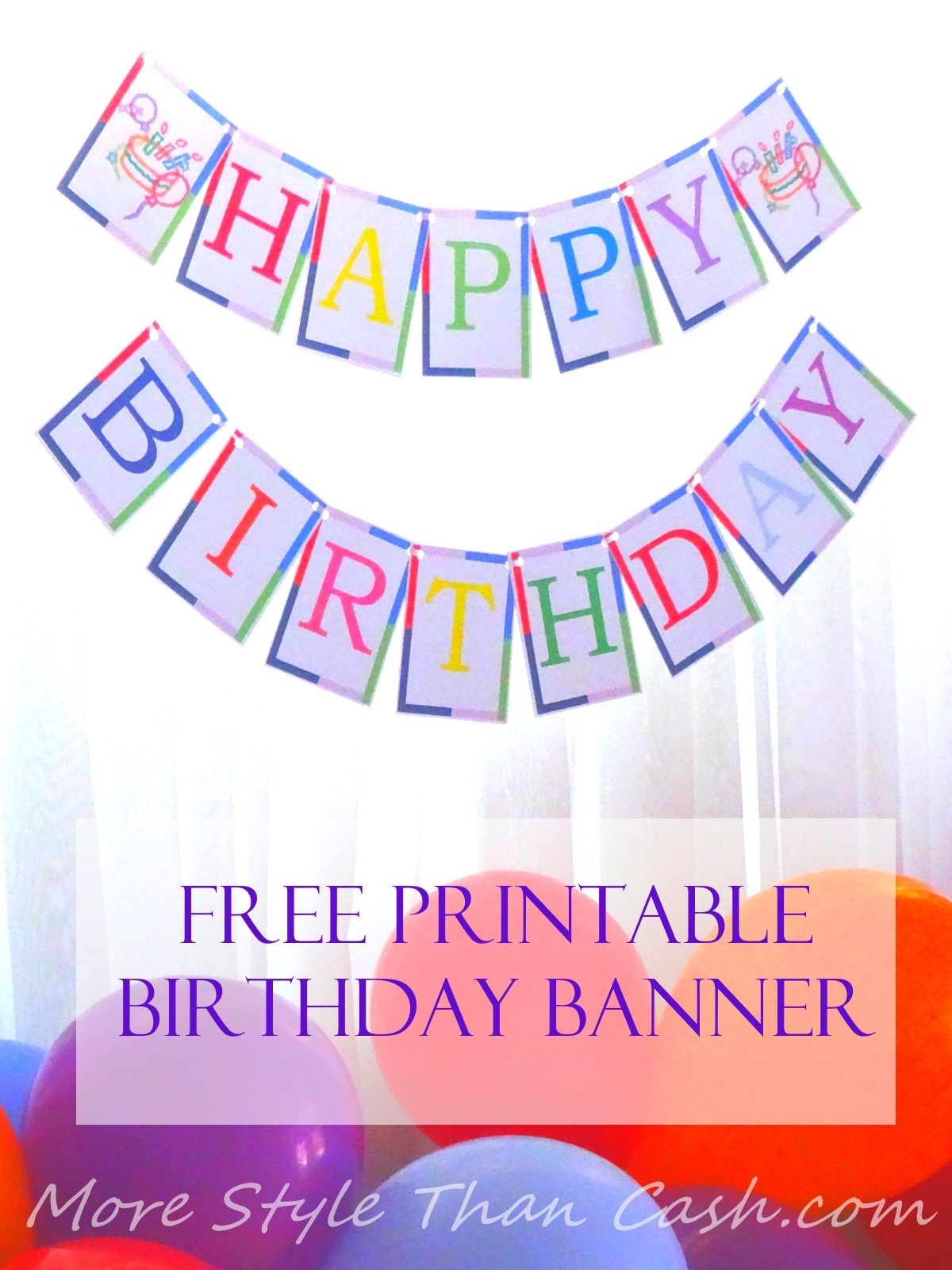 Free Printable Birthday Banner - Free Printable Happy Birthday Banner